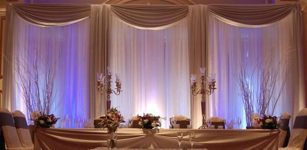 Wedding top table backdrop