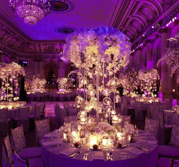 White centerpiece ideas, Wedding Decor Hire Kent