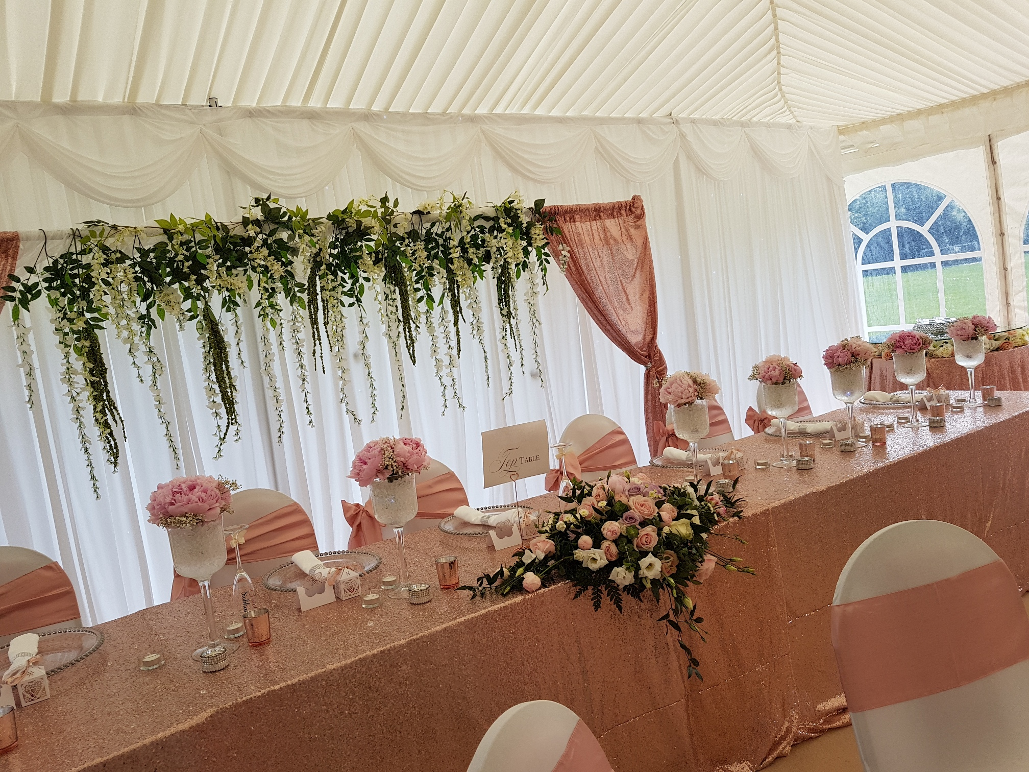 Top table for your wedding in kent