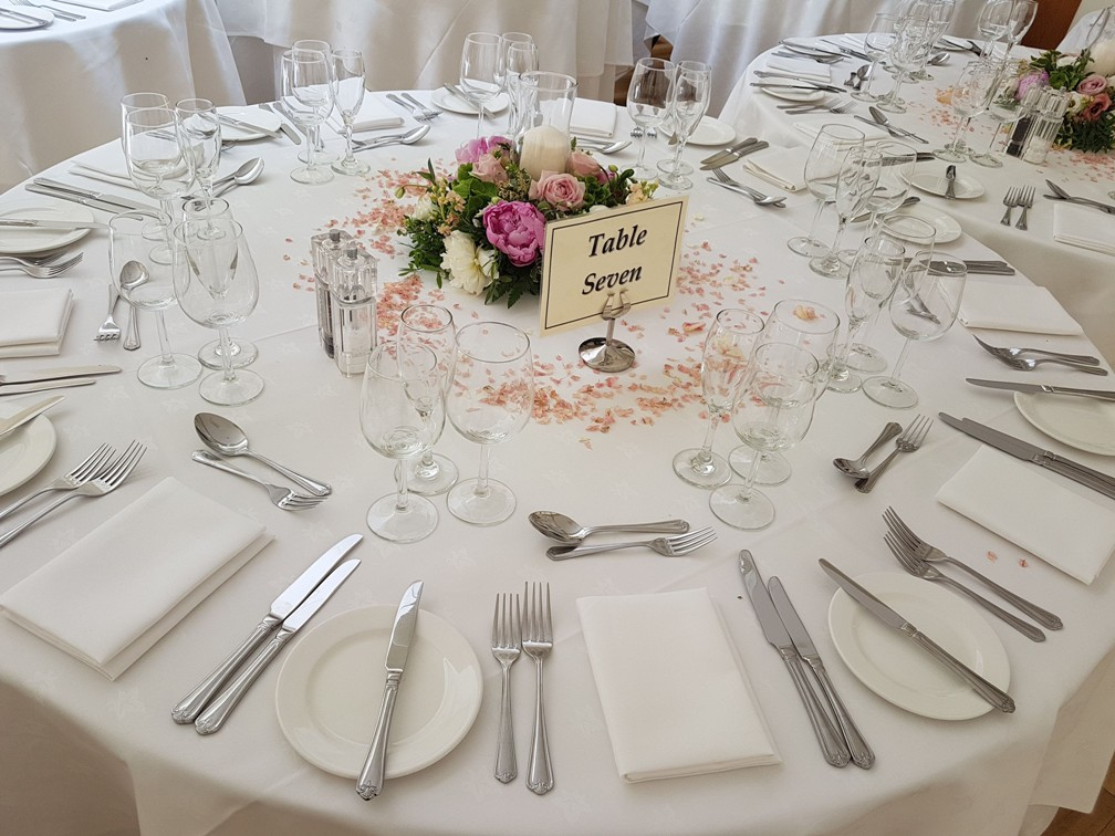 Table plan for weddings in Kent