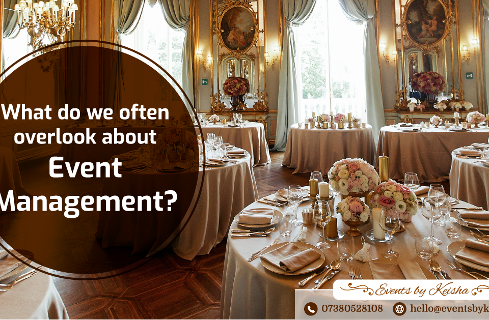Event management in Kent and London