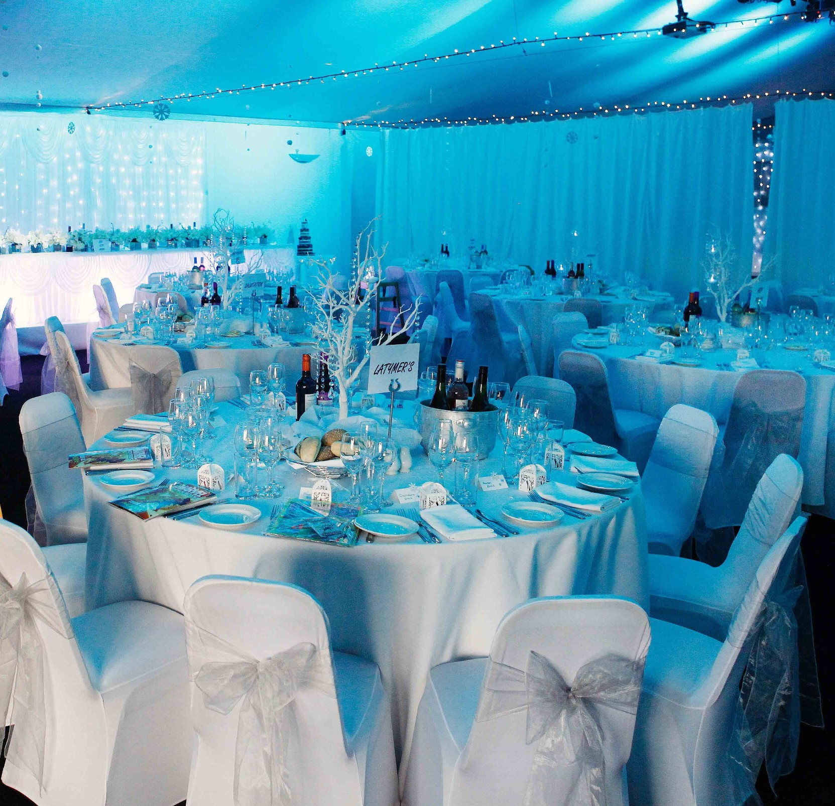 White chair covers, weddings in kent