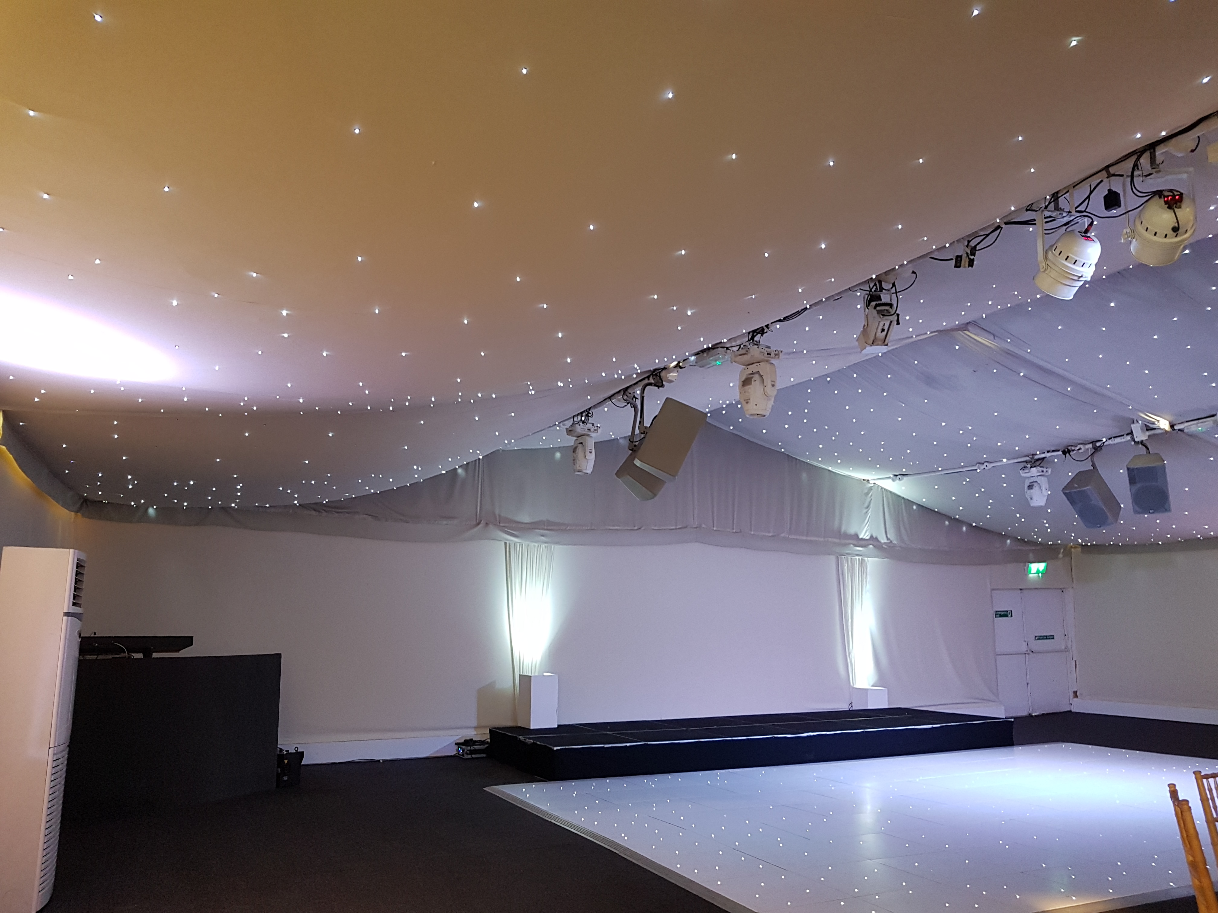 Marquee and wedding dance floor, kent